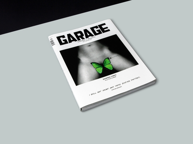 Garage Magazine Mo Coppoletta versatility has allowed him to interpret his designs in different fields including art, fashion and music. In 2011 he collaborated with Damien Hirst, turning two of Hirst drawings into tattoo designs at first and then tattooing themforthe glossy GARAGE magazine. LEARN MORE..