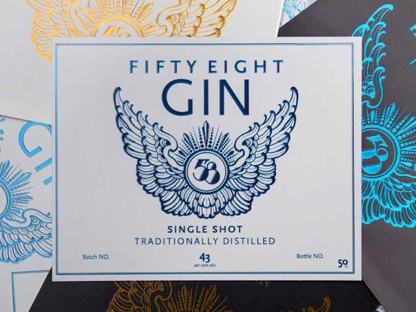 Gin 58 Mo Coppoletta has designed the label of award winning Gin 58.  LEARN MORE..