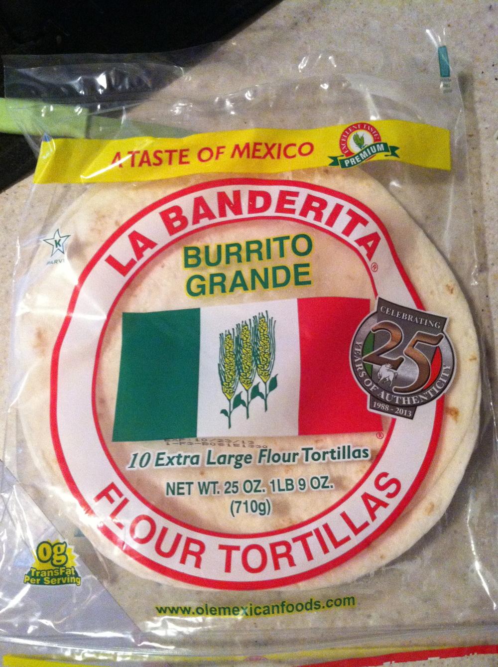 la banderita flour tortilla