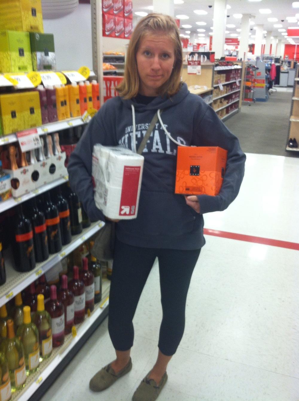 target wine box