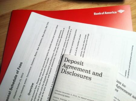 Bank of America Paperwork