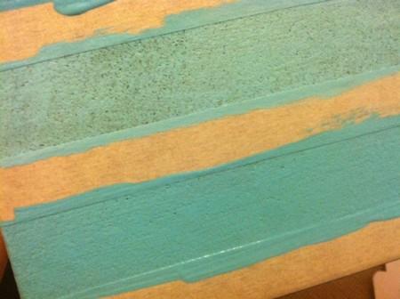 paint soaks in cork board