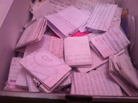 box of notes