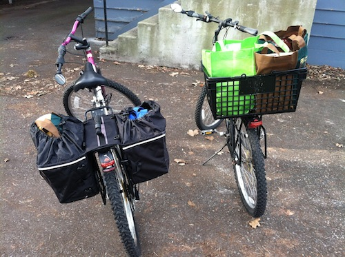 Grocery Shop With A Bike Saving Money In Your Twenties