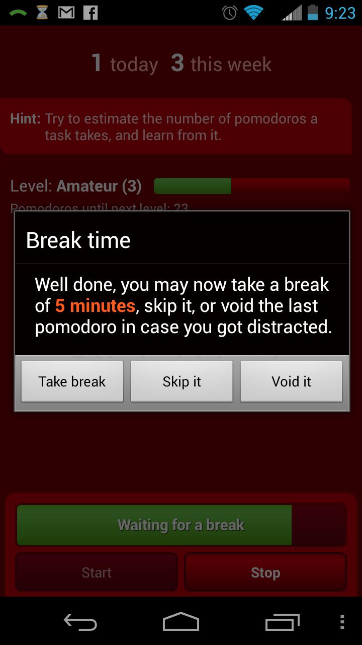 pomodroido break screen