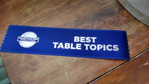 best table topics ribbon