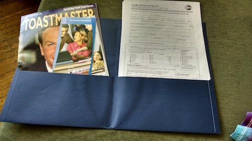 toastmasters membership folder