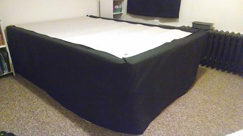 DIY bedskirt boxspring