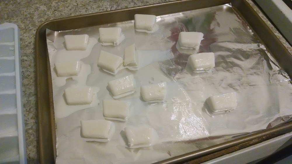melted coffee creamer cubes