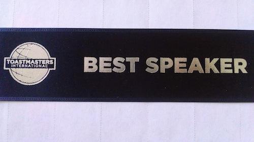 toastmasters best speaker award