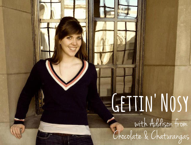 gettin nosy addison chocolate chaturangas