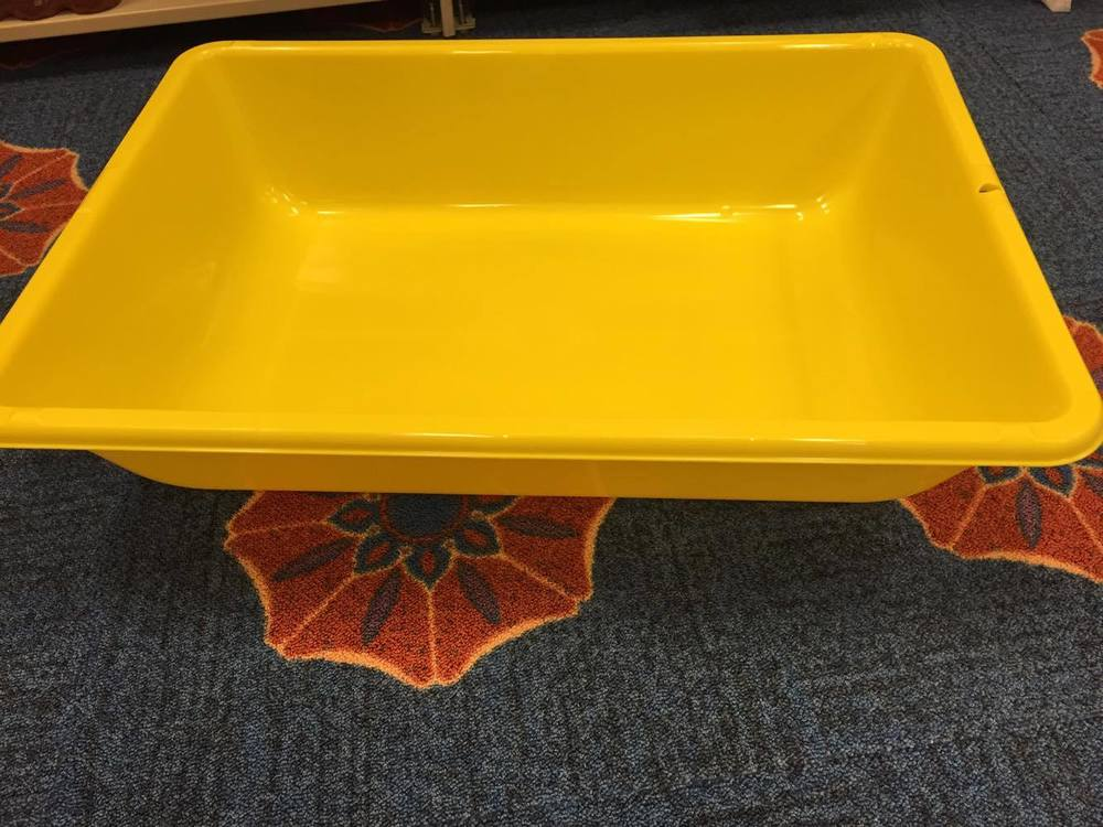 The giant tub that will be filled with water. Kids will test out if objects float or not!