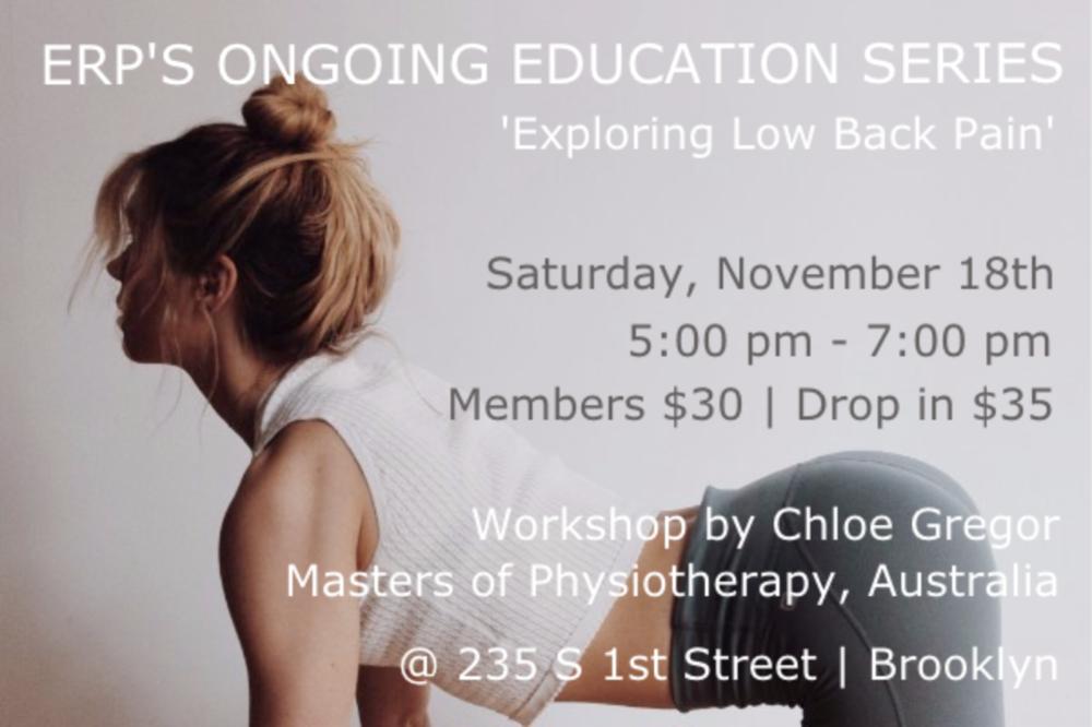 Exploring Low Back Pain