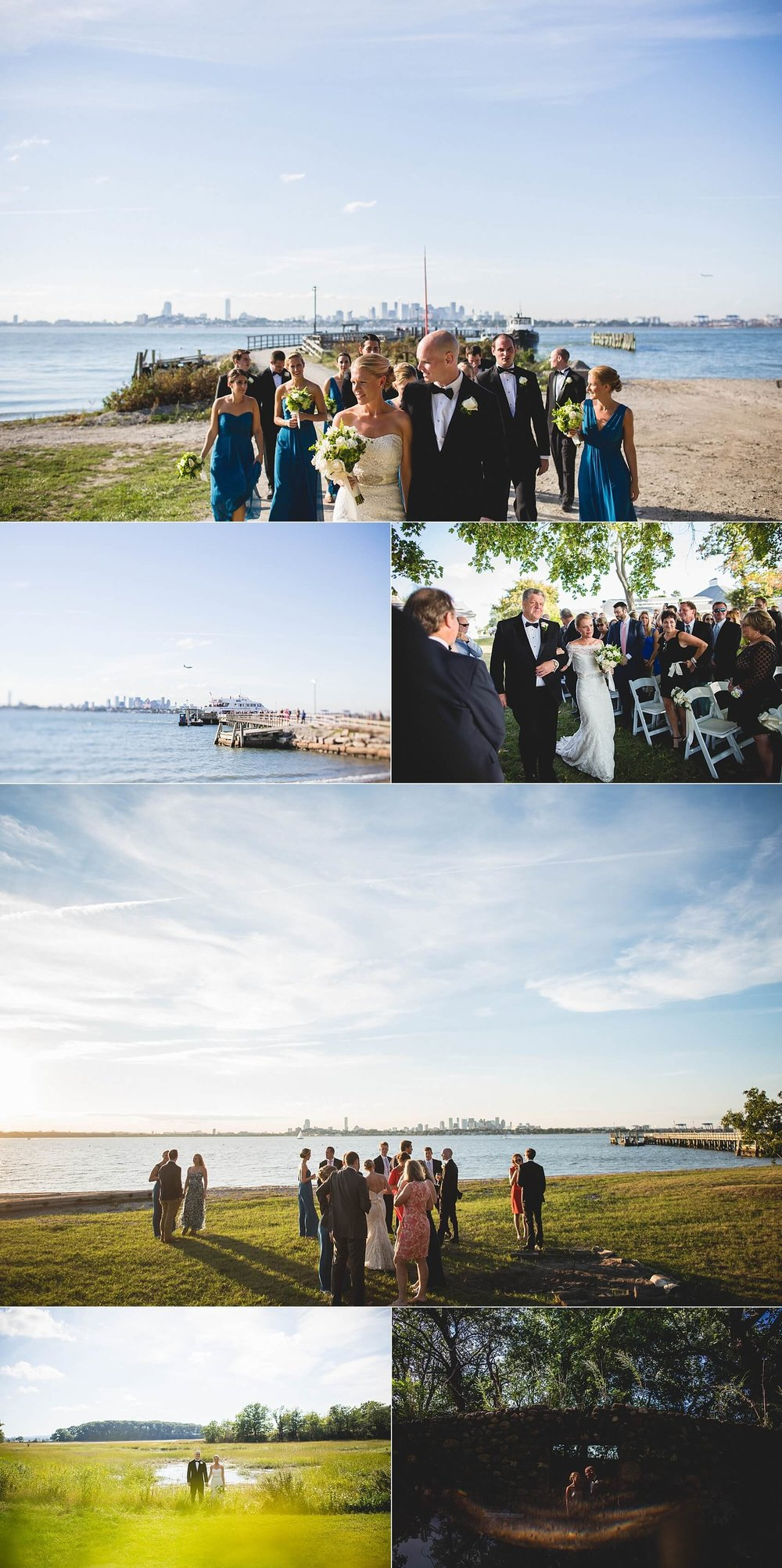 Click Image to view full Thompson Island Wedding!