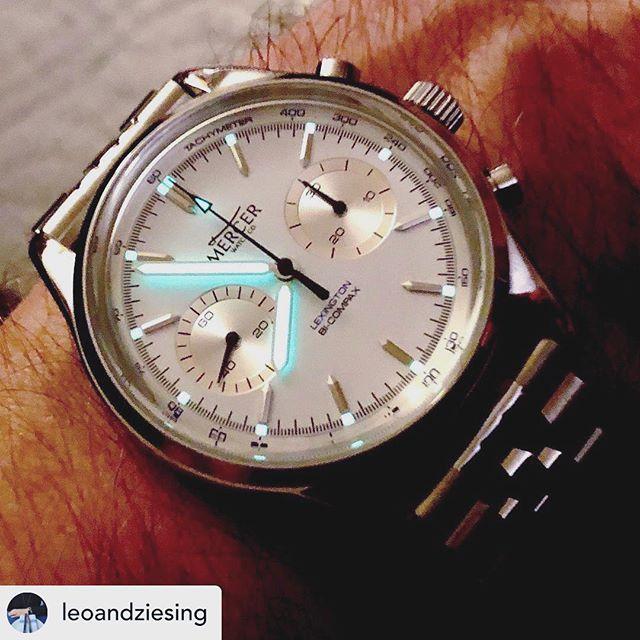 Lexington chronograph, courtesy of @leoandziesing