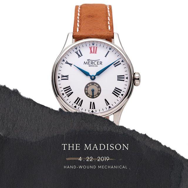 Madison preorders begin in 4 days. Mark your calendar 🗓. More info @mercerwatch.com