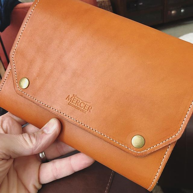 Custom watch wallet made from English bridle leather and 100% merino wool felt. Available soon - in tan and black.