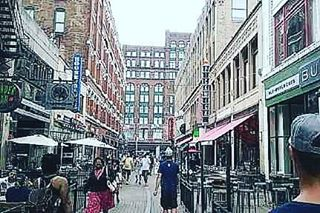 From my #cleveland trip. Phone was dead when they won the #championship , it was nutttz. This was cleveland's main street near the stadium (forgot the name i think its 4th street or sumthin) the morning after they won. #travel #usa #explore #cities #vegan #🌎 #vegan #veggie #veg #vegansofig #ig #insta #instagram #vegans #midwest