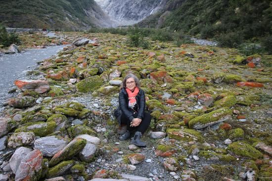 Exploring color at the Franz Joseph Glacier, New Zealand.