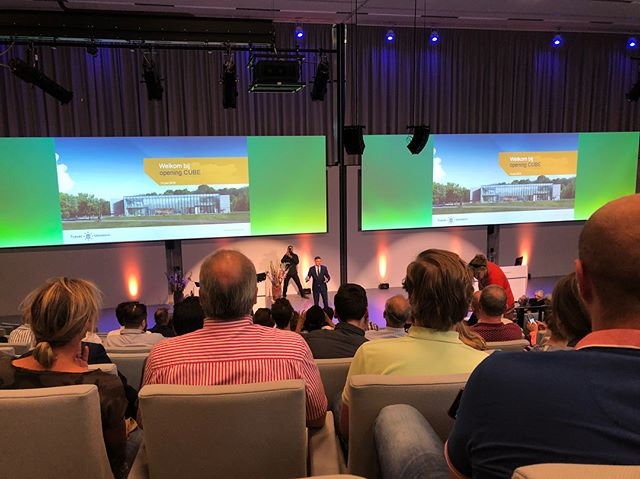 Today we were present at the opening of Cube, the new building for education and self-study. It is very modern and equipped for innovative teaching methods! It will open in September 🏢🎉 #cube #tilburguniversity