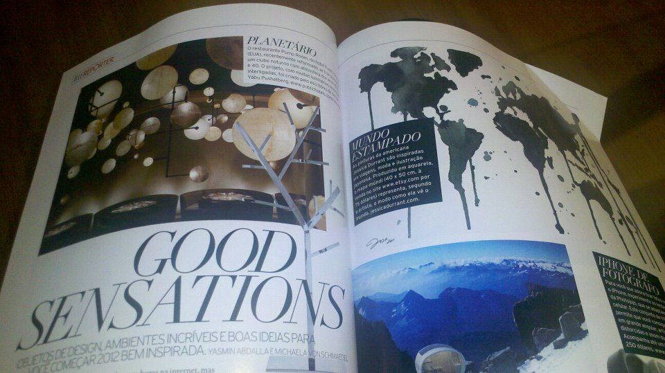 Seeing my map, I worked on in my humble nook of the world, be published in ELLE Brazil was a dream come true. I even had a friend translate it for me!