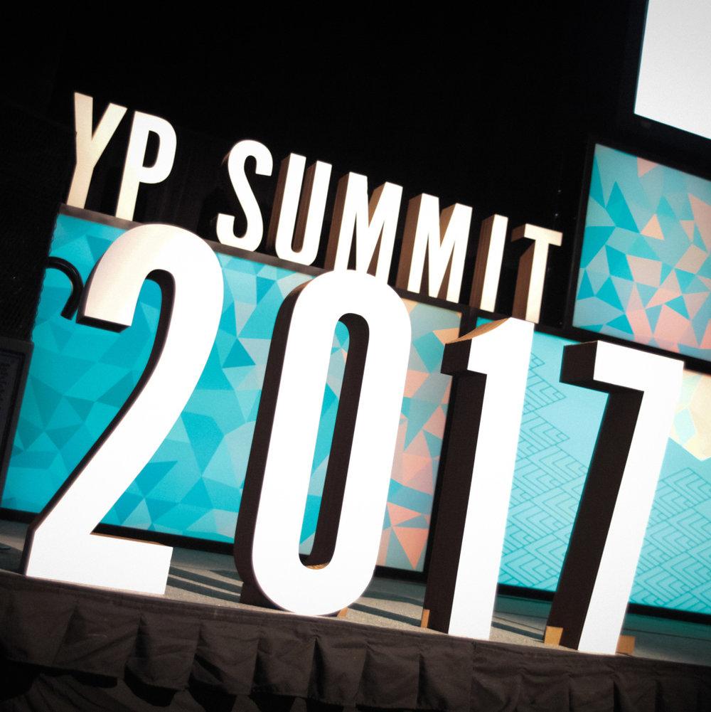 OMAHA CHAMBER YP SUMMIT SIGNAGE - 2017
