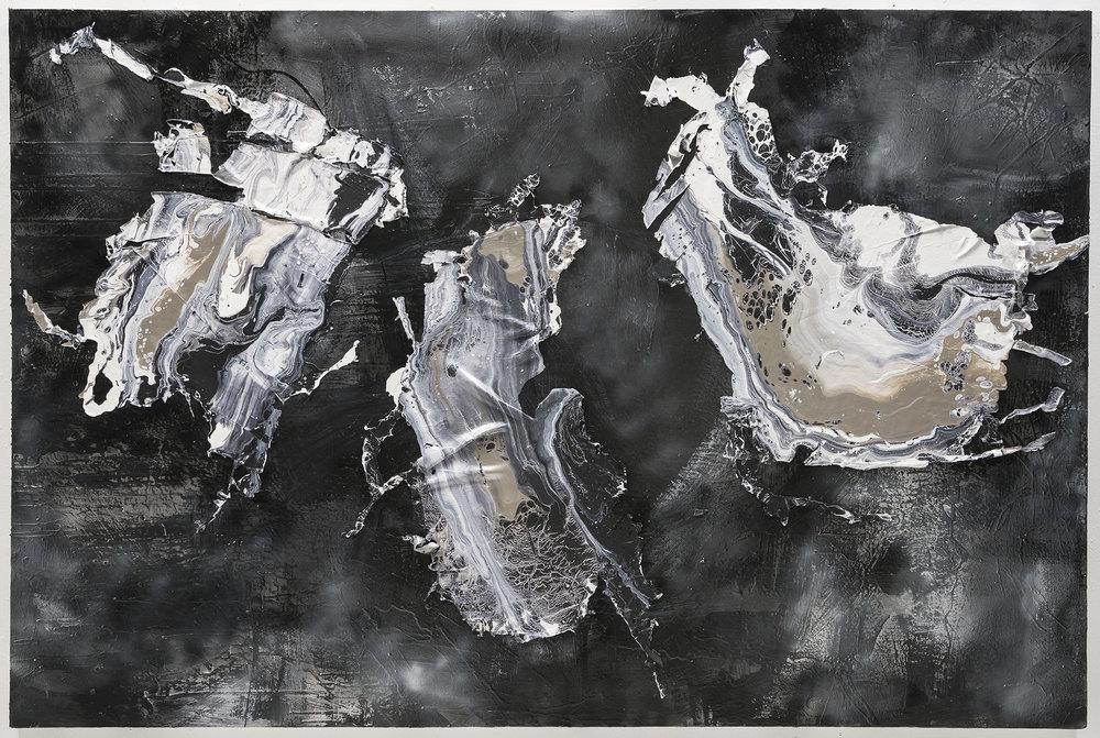 "Kennedy Yanko,  ""  Confluence,"" 2016, 6 X 3.5 Ft., Acrylic on canvas"