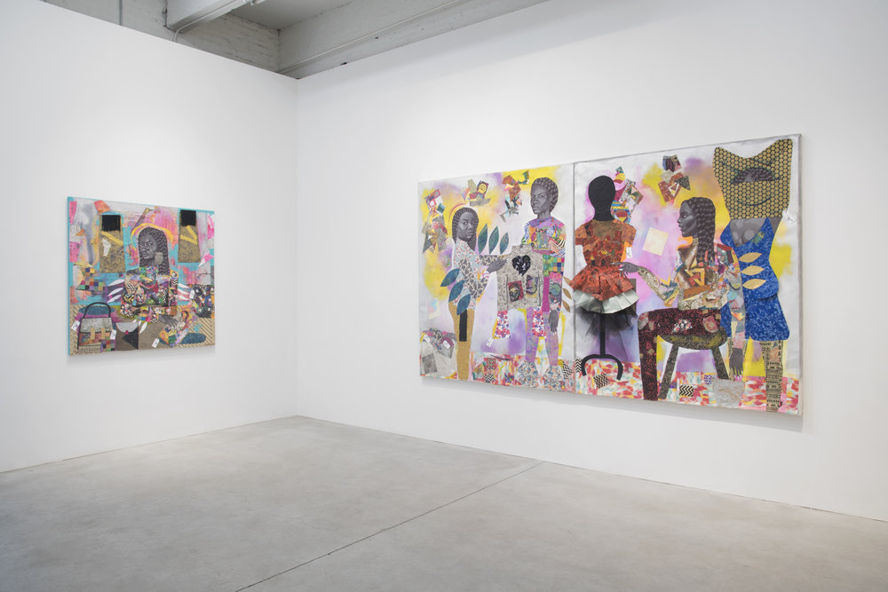 "jamea richmond-edwards ""fly girl fly"" installation view at kravets wehby gallery march 29-april 28, 2018.JPG"