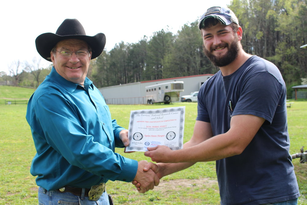 EFT graduate Seth Searcy of No. Carolina with Dan Marcum, Instructor at FNRC in Georgia.JPG