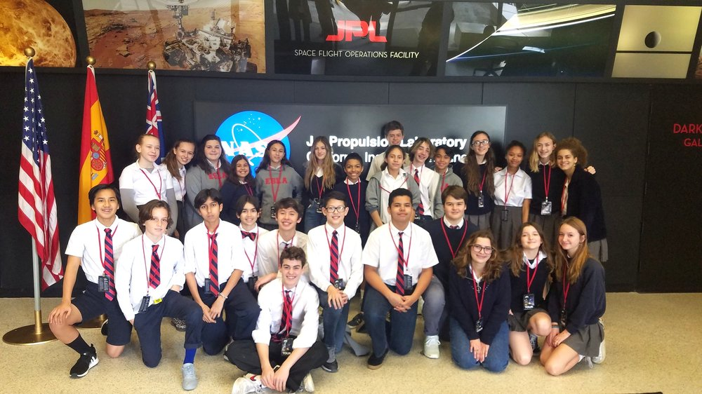 Eighth graders at the Jet Propulsion Lab!