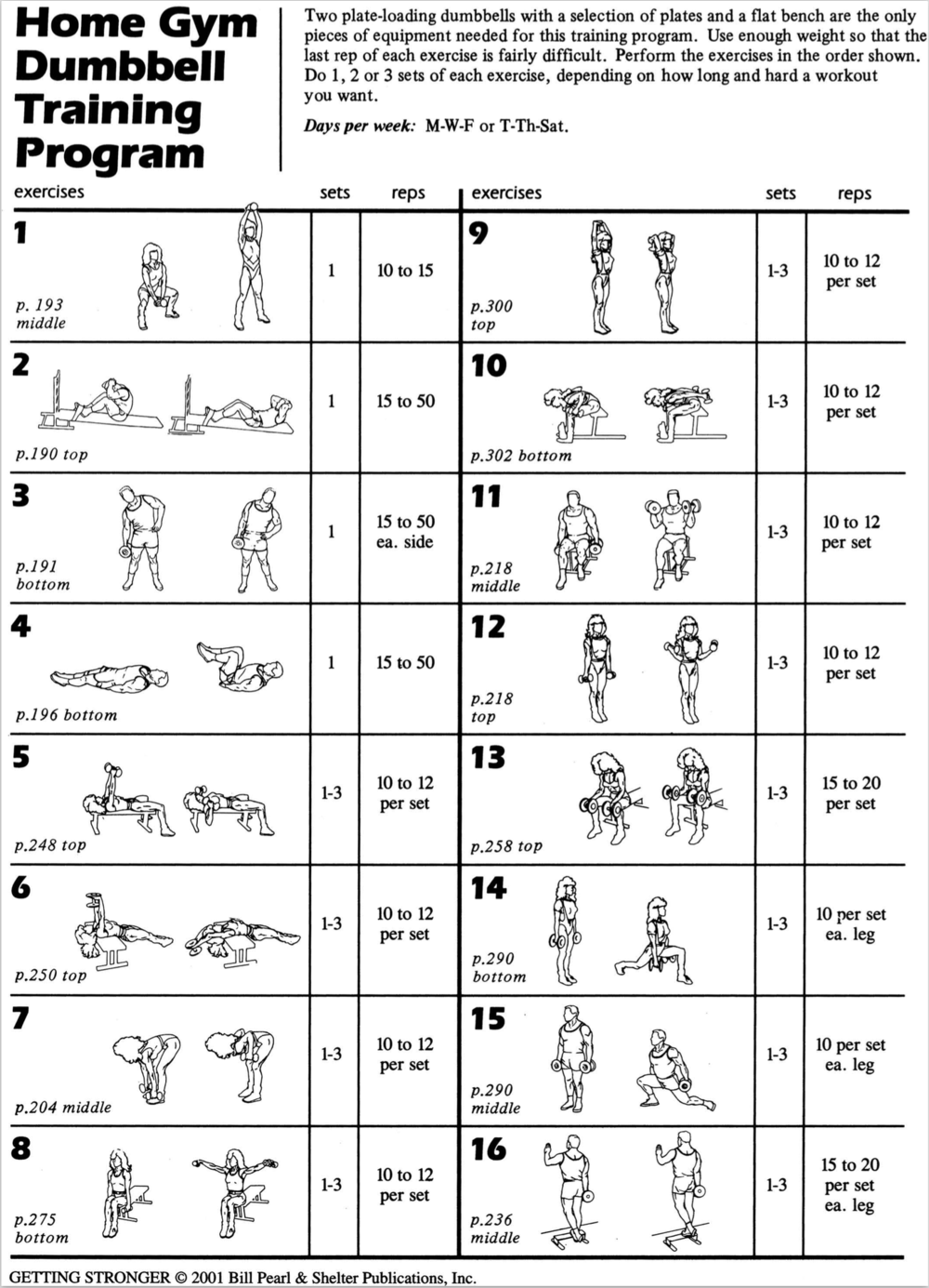 Free Women Weight Training Program