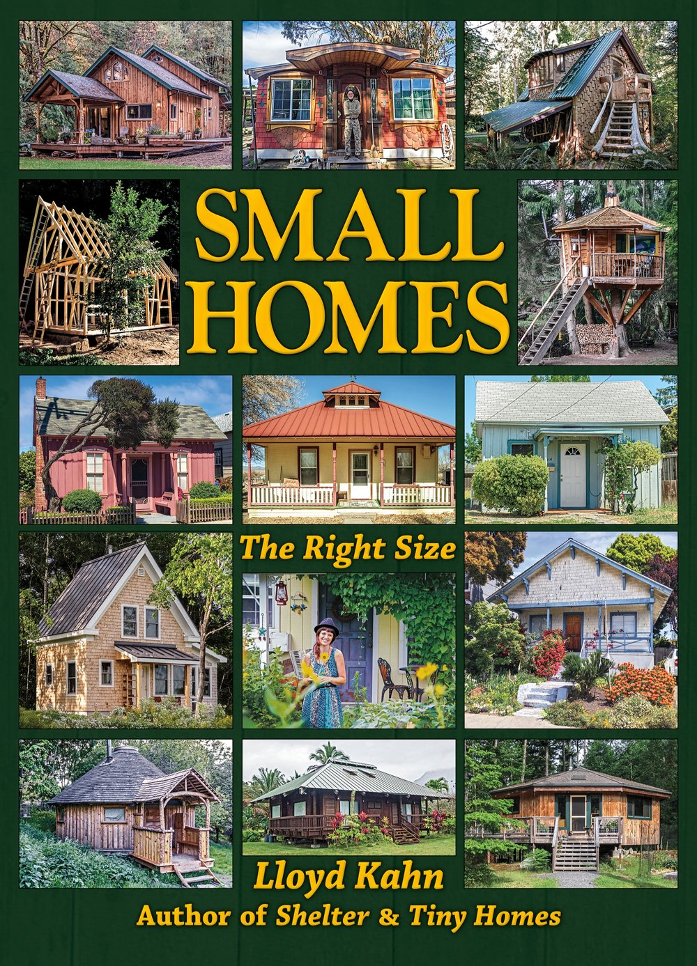 Shelter's first building book in three years will be available by April 1. It covers homes from 400-1200 sq. ft., smaller than a typical American home, and larger then a tiny home — just right! There are 65 buildings shown, with a variety of designs, materials, and locations.