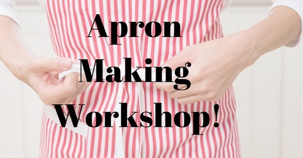 Next Wednesday 5-7 we are having an Apron Making Workshop with unwanted T-shirts! FREE FOOD AND FUN MUSIC! More more information check out our FB event, or register here: https://goo.gl/forms/gA09ptO0YFViMEom2
