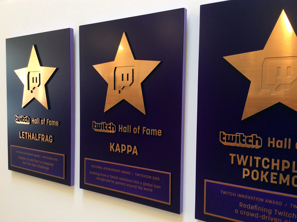 Hall of Fame for TwitchTV