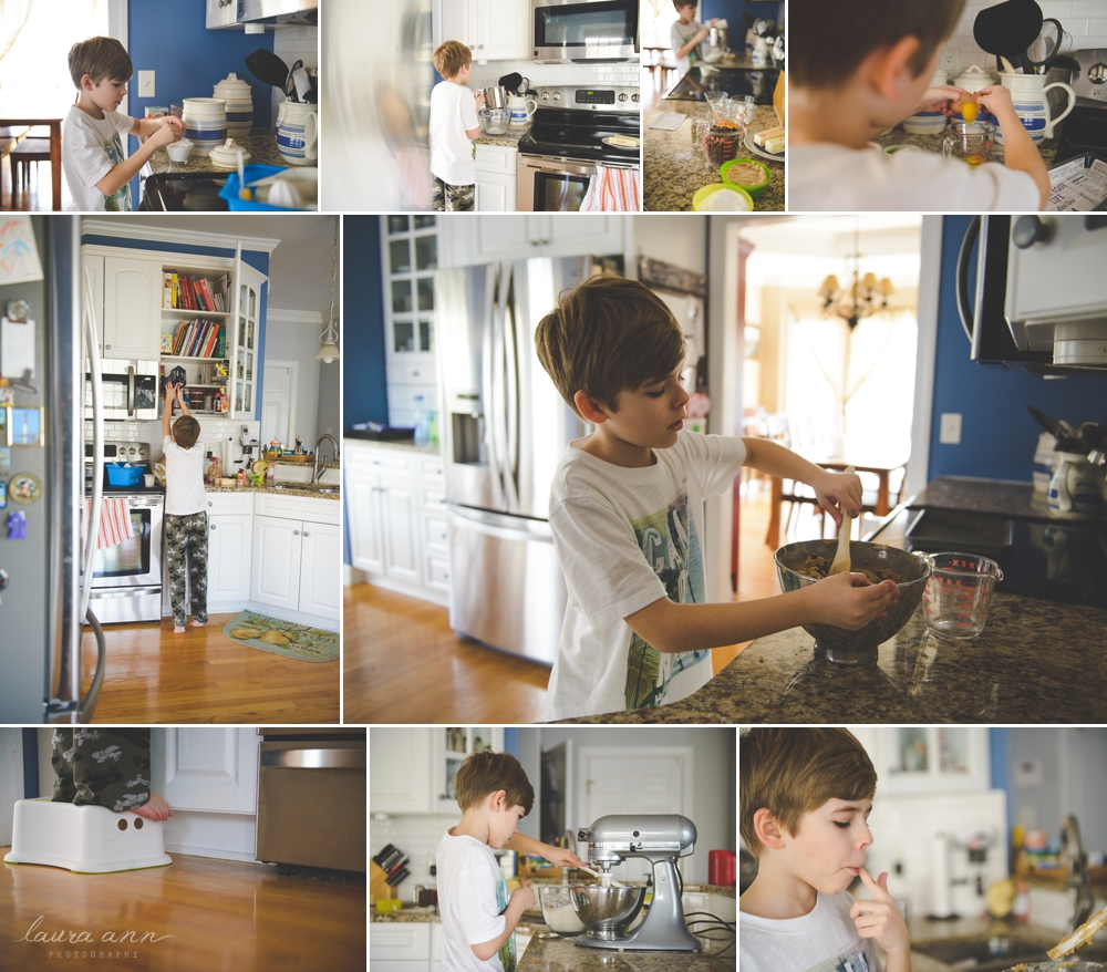 cary family photographer baking cookies