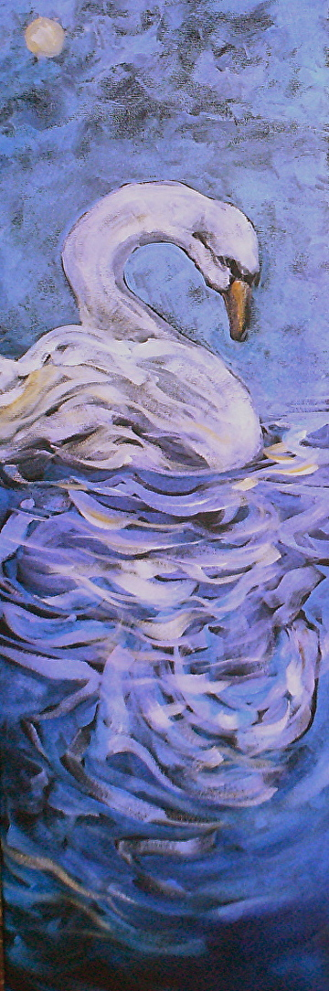 "Luna Acrylic on Canvas 24"" x 8"" $600.00"