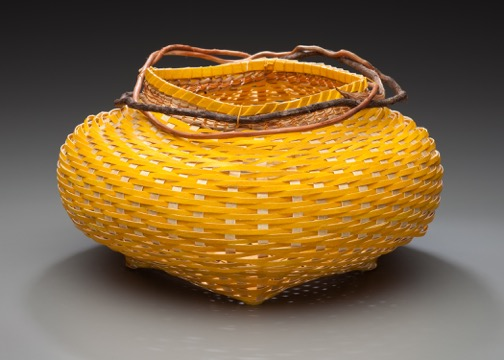 Fran Sloan-Sainas- yellow paper basket