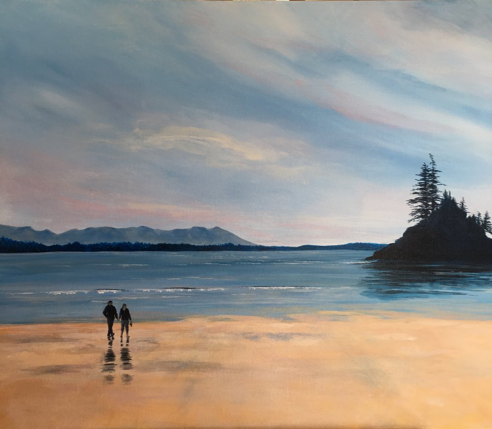 """Morning Walk""  24""x36""  Acrylic on canvas by Allison Brodie"