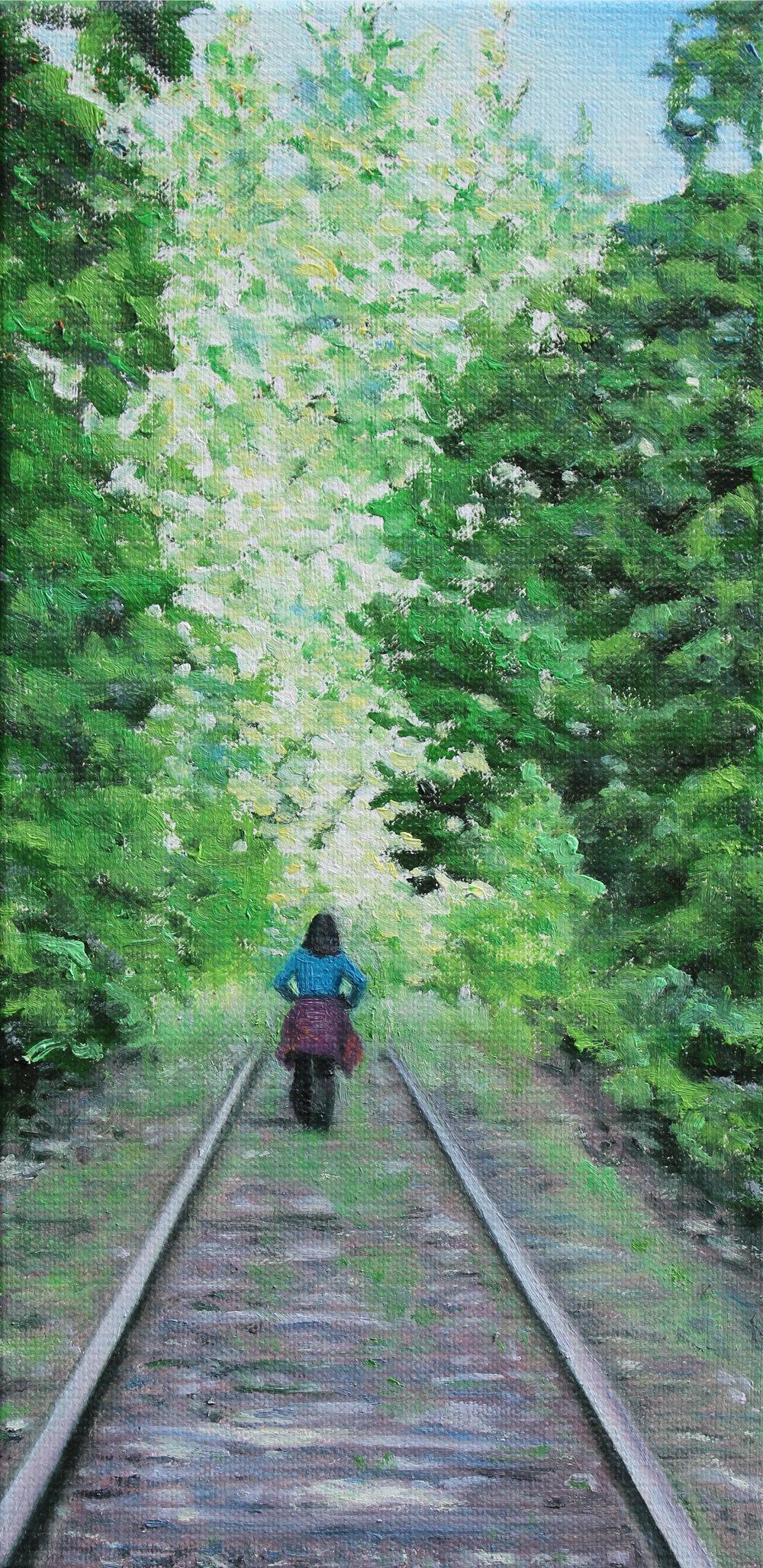 SUSAN HAIGH Track Lighting- oil on canvas
