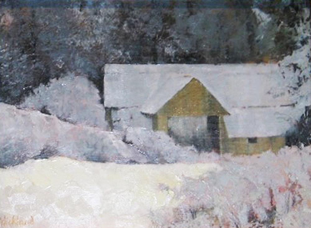 """WENDY WICKLAND """"In the Woods"""" oil on board $295 framed"""