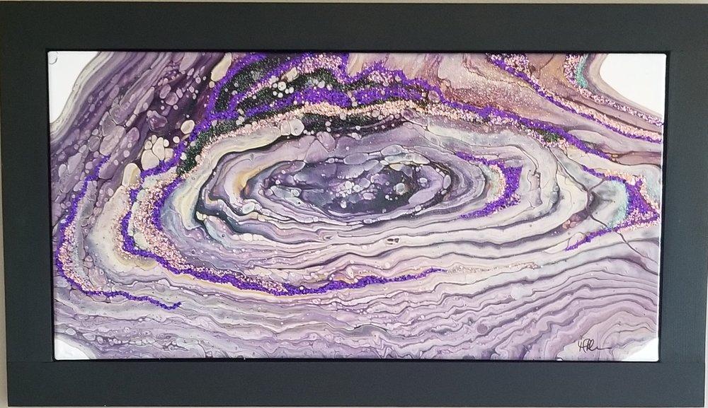 """MELANIE MORRIS """"Rings of Light"""" painting"""