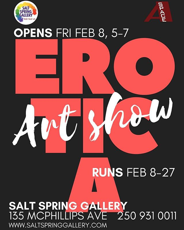 Come out to our first show of the season! #hotpics #eroticart #naughtyart #saltspringartists