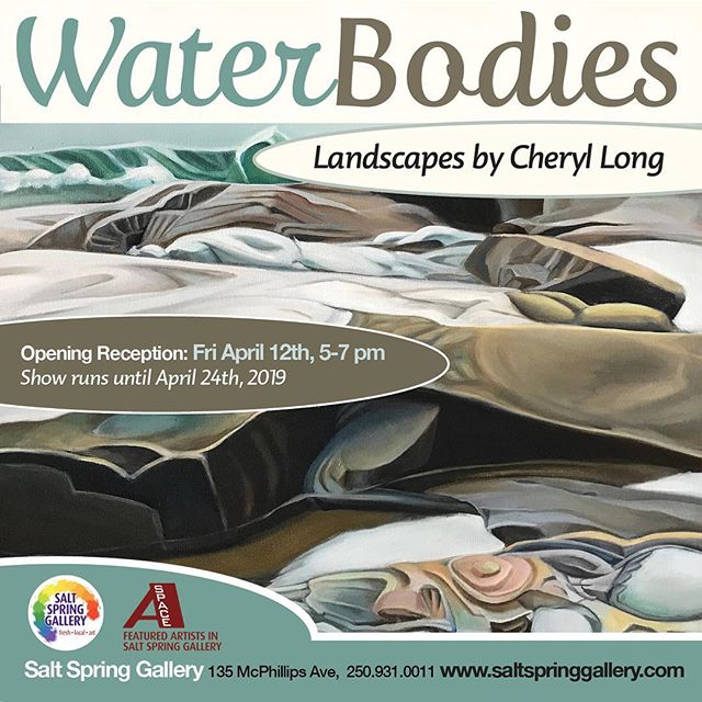 We truly can't wait to host this show. #fabulous #mythicallandscapes #gorgeousoilpaintings #canadianartist #waterbodies #bcartist #saltspringartist #saltspringisland #canadianbeauty