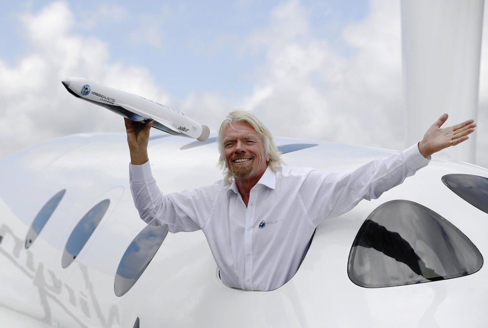 Richard Branson expresses emotions and shows strength i his actions and words.