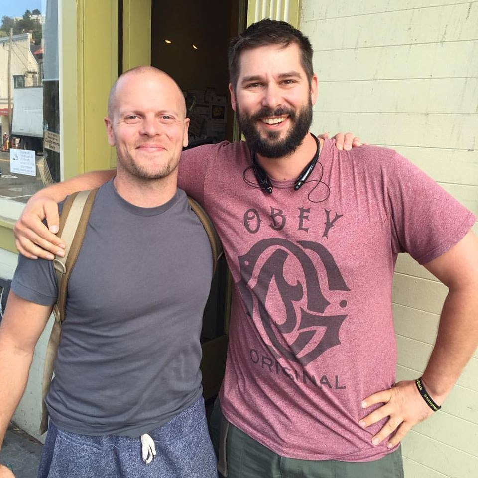 Here is the photo of Tim Ferriss and I meeting in San Francisco, be sure to go to his blog and read his blog and to subscribe to his podcast    Tim Ferriss' blog  https://tim.blog/