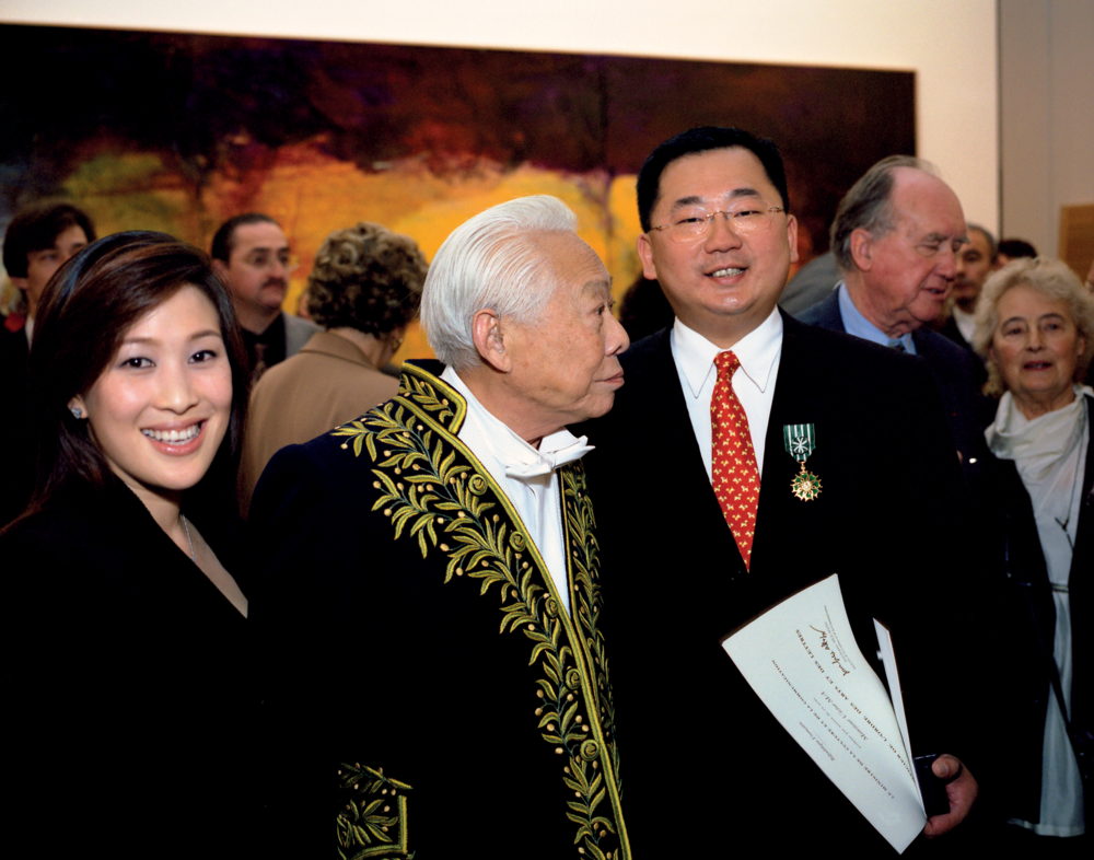 Avec Shannon et Victor Ma à la galerie nationale du Jeu de Paume, 2003. Photo Dennis Bouchard