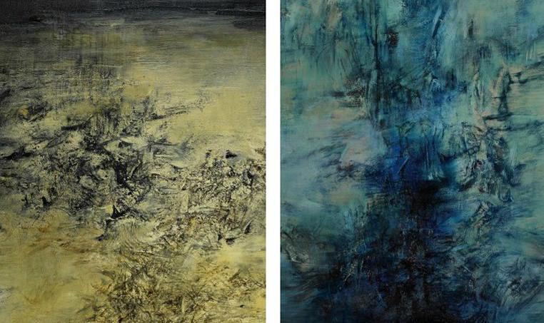 Le figaro deux in dits mis en vente paris zao wou ki for Artiste peintre chinois