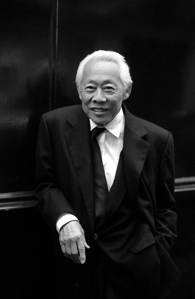 A portrait of Zao Wou-Ki by photographer Didier Gicquel, who was present at the opening