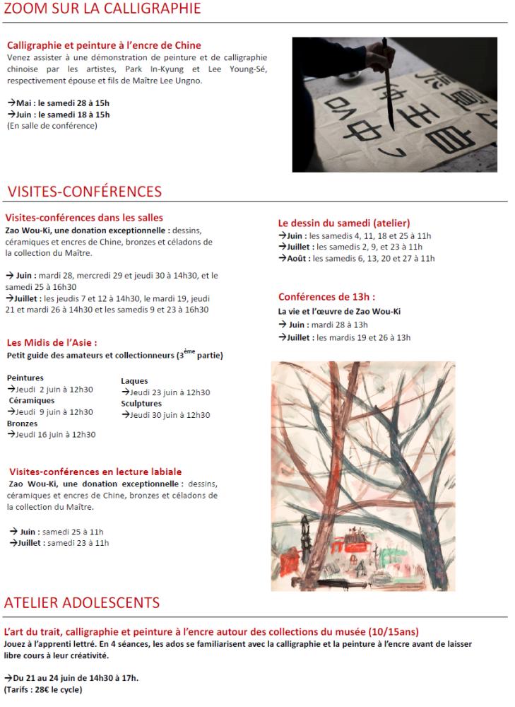 L'actualité du musée Cernuschi juin août 2016 page 2