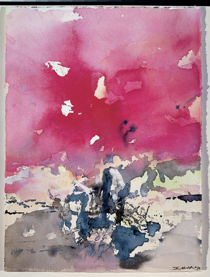 """Zao Wou-Ki: No Limits,"" an exhibition of the Chinese abstract artist, including this untitled 1994 watercolor, is at Asia Society.Credit2016 Zao Wou-Ki/Artists Rights Society (ARS), New York; ProLitteris, Zurich"